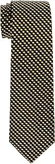 Retreez Wavy Zig Zag Stripe Pattern Woven Boy's Tie - 8-10 years - Various Colors