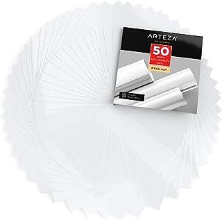 Arteza Láminas de vinilo adhesivo   Color blanco brillante