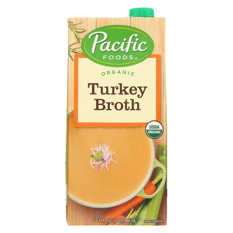 Pacific Foods Organic Max 70% OFF Turkey Fl Broth Las Vegas Mall Oz 32