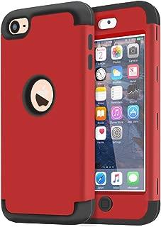 Cover Trasero en Rojo - Carcasa de TPU para m/óvil 6. und 7.Generation kwmobile Funda Compatible con Apple iPod Touch 6G // 7G