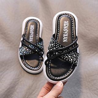 Children's Slippers Non-Slip Beach Shoes Girls Princess Sandals 2020 Summer New Korean Version of Rhinestone Open Toe Flat...