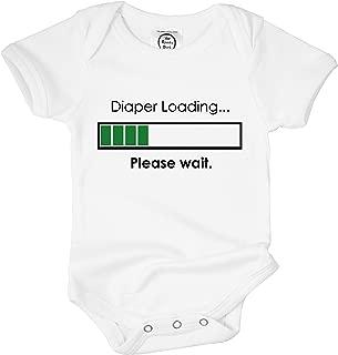 The Spunky Stork Funny Baby Boy Girl Diaper Loading Poop Organic Newborn Infant Bodysuit