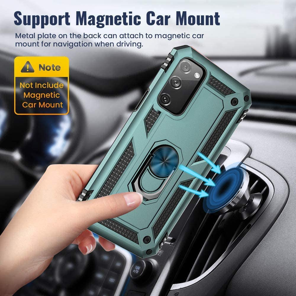 Belt Clip Holster /& Magnetic Ring Holder Blue Case for Samsung Galaxy S20 FE 5G with Belt Clip,Military Grade Drop Full-Body Protection cover 360 Degree Rotating Kickstand case for Galaxy S20 FE 5G