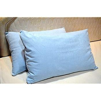 "Trance Home Linen Cotton 200TC Pillow Protector (17""x25""_Sky Blue)"