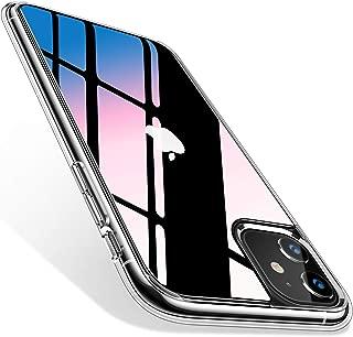 TORRAS iPhone 11 用 ケース 日本旭硝子製 高透明 背面9H強化ガラス+TPUバンパー 四隅滑り止め 黄変防止 耐衝撃 薄型 アイフォン11用カバー 6.1インチ対応(クリア)[Fancy Series]
