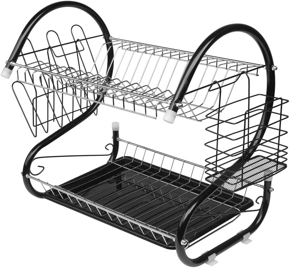 Maogear Dish Max 69% OFF Rack and Drainboard Set Stainless Multifuncti Max 81% OFF Steel
