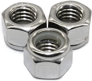 Fullerkreg 5/16-18 Nylon Insert Hex Lock Nuts, Stainless Steel A2-70/304/18-8, Plain Finish, Quantity 50