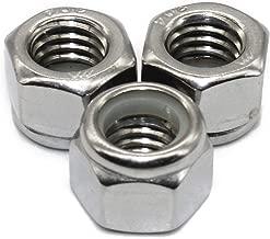 Fullerkreg 1/2-13 Nylon Insert Hex Lock Nuts, Stainless Steel 18-8, Plain Finish, Quantity 10