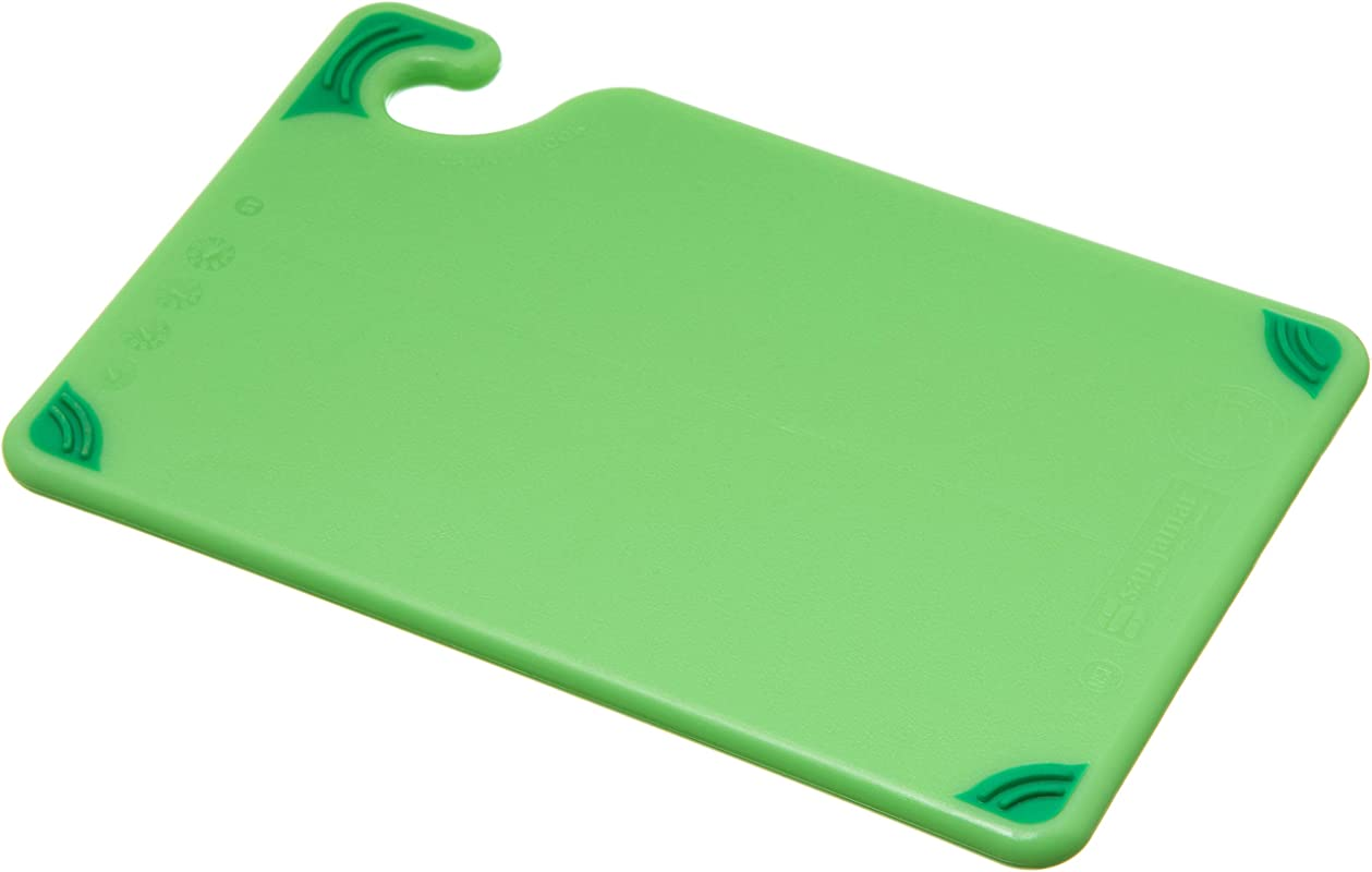 San Jamar CBG6938 Saf T Grip Co Polymer Bar Board 9 Length X 6 Width X 3 8 Thick Green