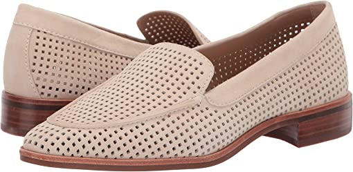 Oatmeal Perforated Suede