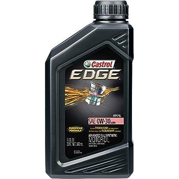 Castrol 06244 EDGE A3/B4 0W-30 Advanced Full Synthetic Motor Oil, 1 Quart, 6 Pack