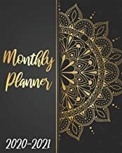 2020-2021 Monthly Planner: Golden Mandala, 24 Months Calendar Agenda January 2020 to December 2021 Schedule Organizer With Holidays and inspirational Quotes