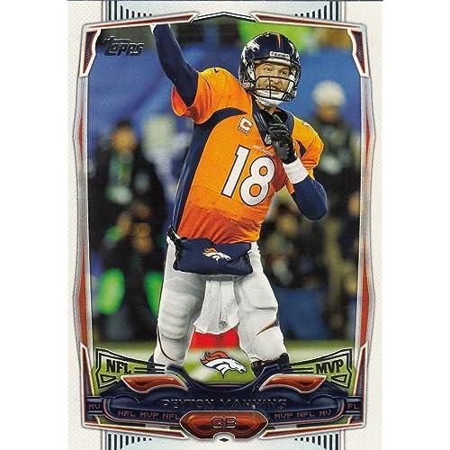 Peyton Manning Jersey Card Amazoncom