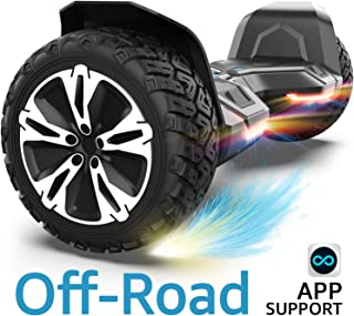 Gyroor Warrior 8.5 inch All Terrain Off Road Hoverboard with Bluetooth Speakers and LED Lights, UL2272 Certified Self Balancing Scooter 2018(Black)