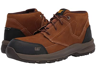Caterpillar Resolve Mid Composite Toe (Brown Nubuck) Men