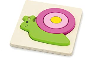 Shape Block Puzzle-Snail-Wooden Educational Toys