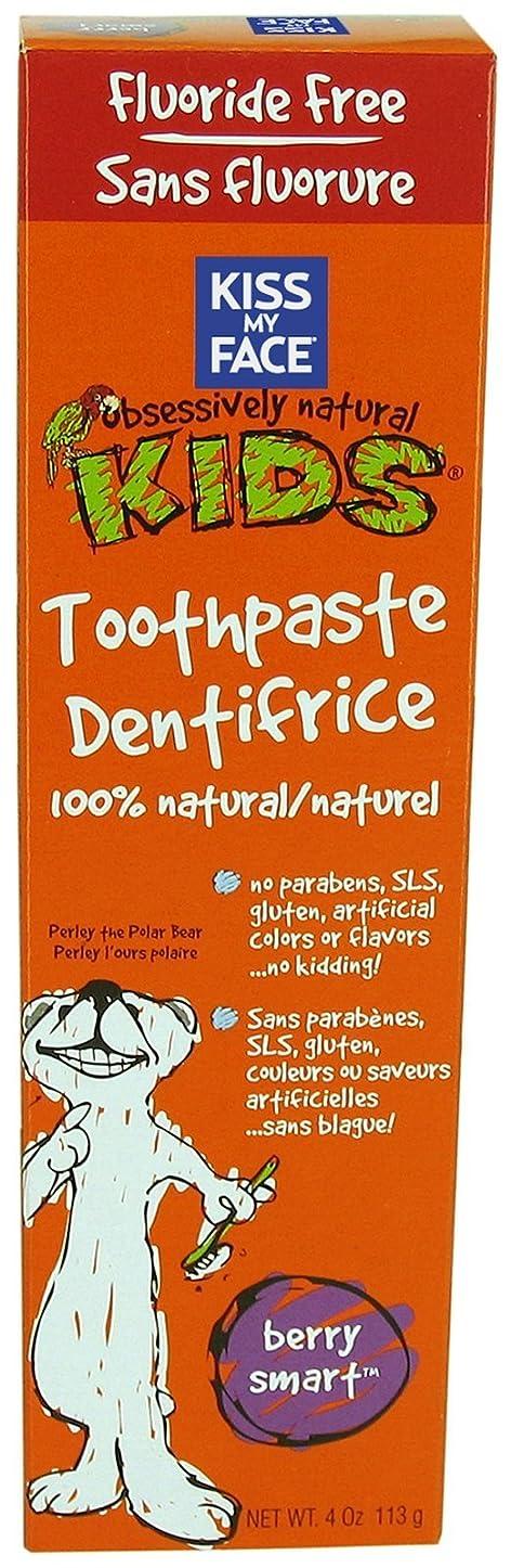 電話に出る比率飾り羽Kiss My Face Gentle Fluoride Free Toothpaste for Kids-Berry Smart-4 oz by Kiss My Face
