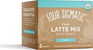 Four Sigmatic Chai Latte, Organic Instant Chai Latte with Turkey Tail, Reishi Mushrooms & Coconut Milk Powder, Support Gut...