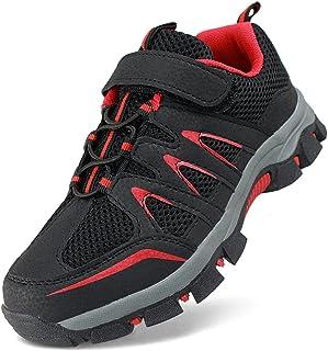 Hawkwell Kids Outdoor Hiking Shoe,Black Red Mesh,6 M US Big Kid