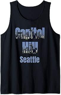Seattle Skyline, Capitol Hill Neighborhood Shirt Tank Top
