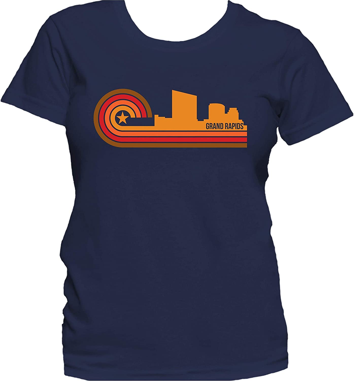 Grand Rapids Unisex Michigan Travel Shirts Retro Camping Womens Mens Outdoors Mi Tshirt | Grand Rapids Skyline Grand Rapids T-Shirt