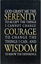Dicksons Serenity, Courage, Wisdom Prayer Crackled Onyx 11 x 17 Wood Wall Sign Plaque