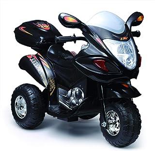 Kids 3 Wheel crome motorcycle ride on car Black(238)