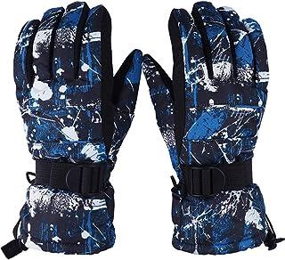 Toddler Women Mens Snow Gloves Kids Waterproof Winter Warm Thermal Ski Snowboard Ladies Glove
