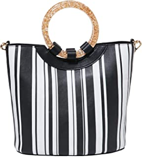 Women's Confetti Rings Medium Bucket Bag