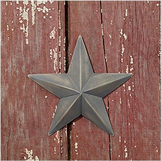 Country House 复古风格室内悬挂金属谷仓之星(15.24 厘米)