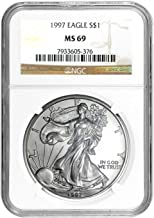 1997 American Silver Eagle ASE $1 MS-69 NGC