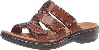 Clarks Women's Leisa Spring Sandal, Brown Multi Leather, 95 N US