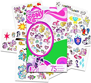 Hasbro My Little Pony Temporary Tattoos - 75 Tattoos - Twilight Sparkle, Rainbow Dash, Fluttershy, Pinkie Pie, Applejack, Rarity, Spike The Dragon, Princess Celestia, and Princess Luna!