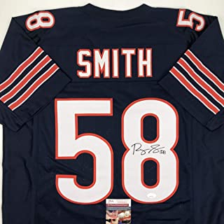 Autographed/Signed Roquan Smith Chicago Blue Football Jersey JSA COA