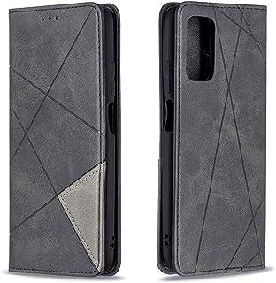 Xiaomi Poco M3 ケース Xiaomi Poco M3 ケース手帳型シルク手触り高級感 PUケース折りたたみ式カードポケッに優しいカード収納 財布型カバー耐衝撃スタンド 機能 全面保護バー (Xiaomi Poco M3, 黒)