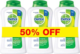 Dettol Original Anti-Bacterial Body Wash 250ml (Pack of 3)