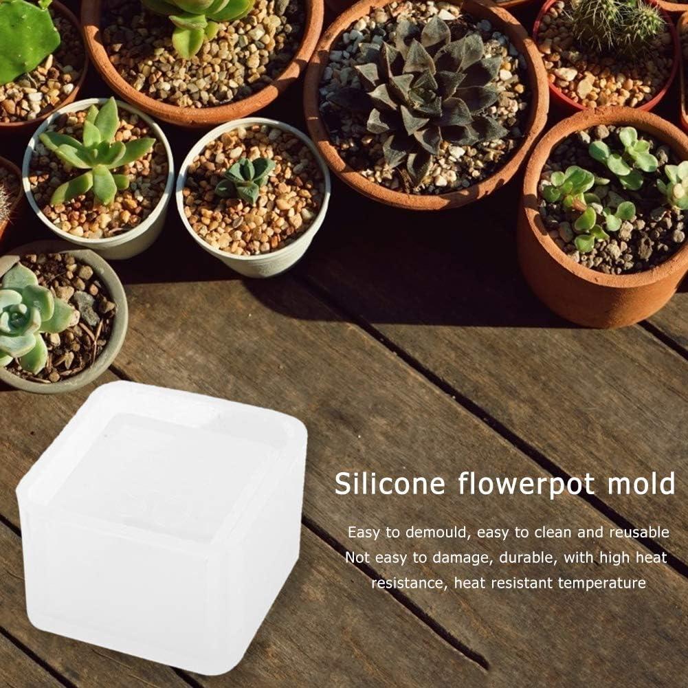 DIY Silicone Flower Pot Mold Succulent Plant Flower Bonsai Molds ...