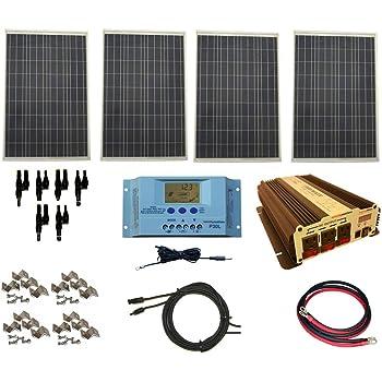 Amazon Com Windynation 100 Watt Solar Panel Kit With 1500w Vertamax Power Inverter For Rv Boat Off Grid 12 Volt Battery Systems Garden Outdoor
