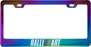 Ralliart Polished Neo Chrome License Plate Frame Fit Mitsubishi (Plating Color)