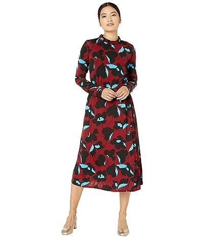 Kate Spade New York City Blooms Knit Dress (Auburn) Women