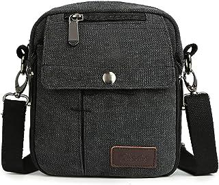 Zicac Men s Small Vintage Multipurpose Canvas Shoulder Bag Messenger Bag  Purse 62cec8c4377