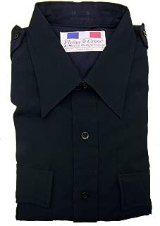Flying Cross Men's Navy Weather Deluxe Tropical Long Sleeve Uniform Shirt