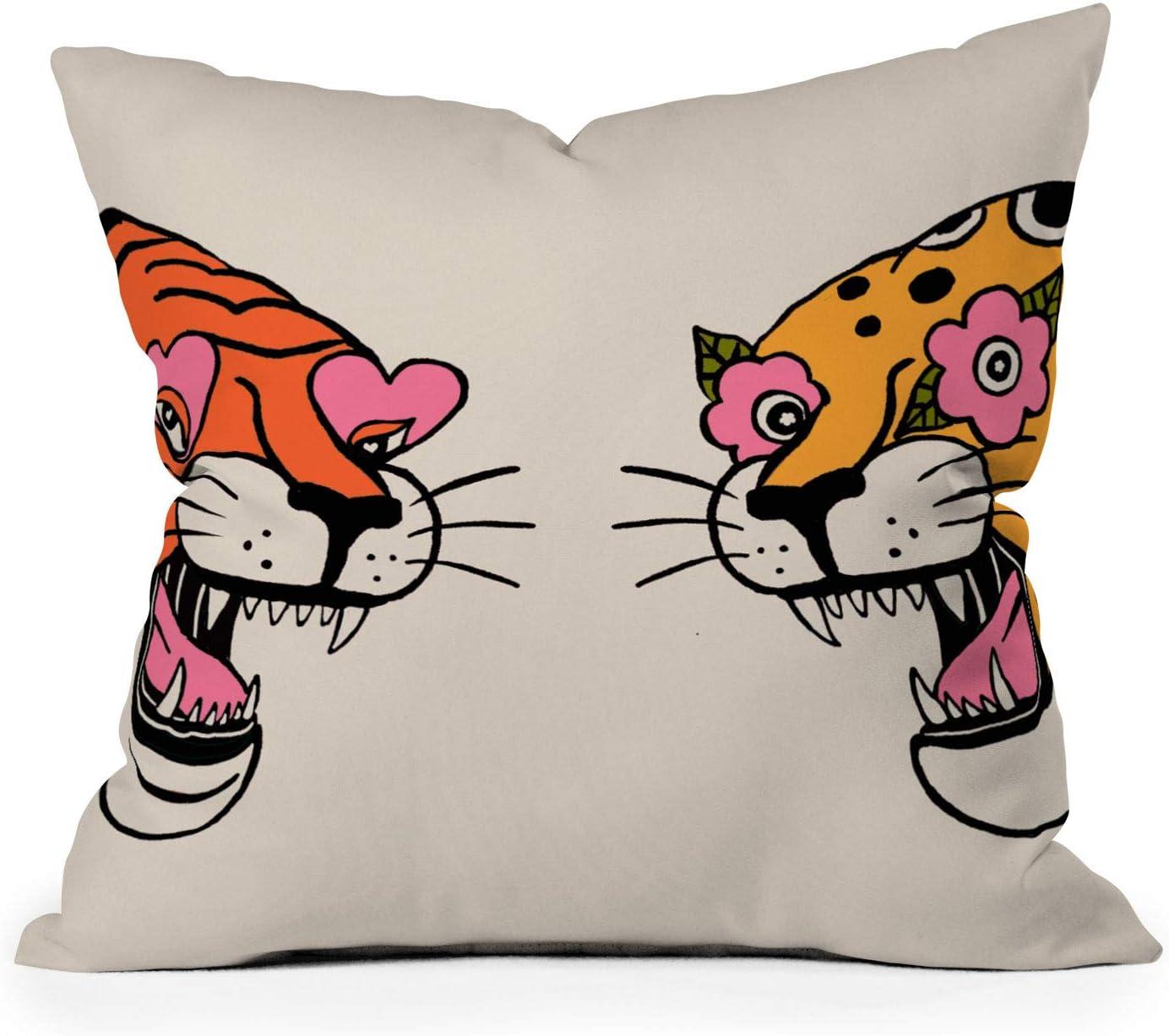 Society6 Jaclyn Washington Mall Caris Tiger Cheetah  Pillow Throw Max 63% OFF 20