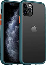 JUMP START iPhone 11 Smoke Translucent Hard Matte Case with Soft Edges, Shockproof Smooth Matte Feel Touch Case Cover for Apple iPhone 11 [Non-Slip Texture]_Bottlegreen