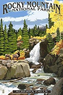 Rocky Mountain National Park, Colorado - Alberta Falls (12x18 Art Print, Wall Decor Travel Poster)