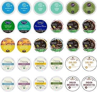 Tea Pods Variety Pack, Assorted Green Tea, Black Tea, White Tea, & Herbal Tea , Single Serve Tea Pods for K...