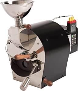 Kaldi Fortis Coffee Bean Roaster Professional Tool(600g) Semi-Convection heat type(Solid drum) (Data Logger Thermometer)
