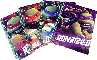 Nickelodeon's Teenage Mutant Ninja Turtles Spiral Notebooks Bundle Set 1 Subject Notebook Back to School Supplies 2015