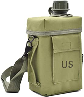JFFCESTORE Military Canteen Squared Insulated Camouflage Bag Carrier Cover Canteen 2Quart Capacity Water Bottle Pouch for ...