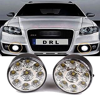 VAWAR LED Tagfahrlicht, rund Tagfahrleuchten, 9 LEDs Scheinwerfer, DC 12V, E4, Weiß